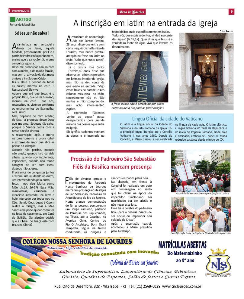 Jornais Basílica Nossa Senhora De Lourdes